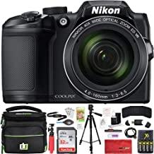 Nikon COOLPIX B500 16MP 40x Optical Zoom Digital Camera 32GB Bundle Includes Camera, Bag, 32GB Memory Card, Reader, Wallet...