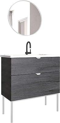 ts-ideen Cómodo armario con mesa de noche 62 x 43 cm estante ...