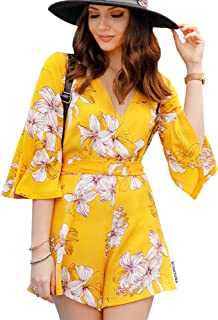yellow flower playsuit