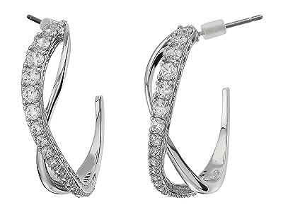 Swarovski Twist Hoop Pierced Earrings (Silver) Earring