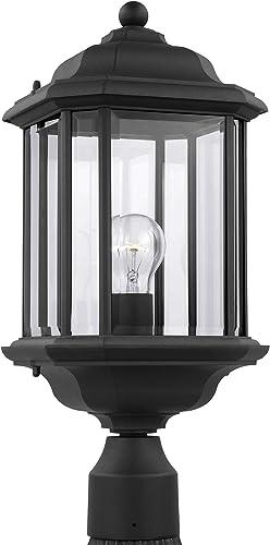 Sea Gull Lighting 82029-12 Kent Outdoor Post Lantern Outside Fixture, One - Light, Black