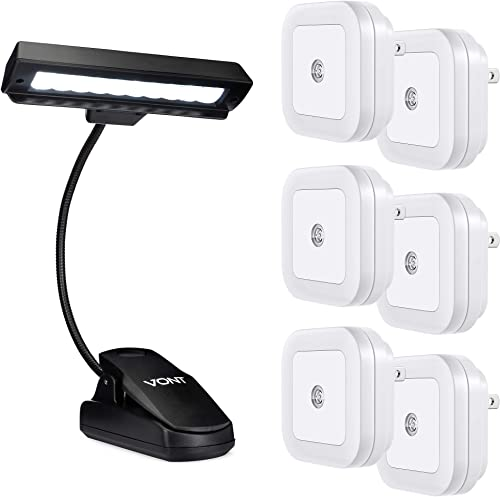 discount Vont Night Lights 6-Pack + Reading Clip wholesale Light Bundle - Excellent Wall Lighting for Room, Hallway, Stairway - Best Clip Light for Reading, Playing Piano, DJing, Arts outlet sale and Crafts - Smart, Efficient, Safe online sale
