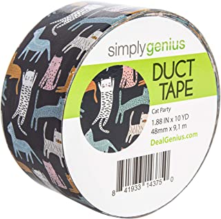 Simply Genius (Single Roll) Patterned and Colored Duct Tape Roll Craft Supplies for Kids Adults Patterned Duct Tape Colors, Cat Party