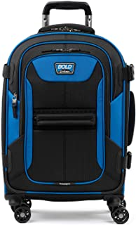 Travelpro Bold-Softside Expandable Luggage with Spinner Wheels, Blue/Black, Carry-On 21-Inch