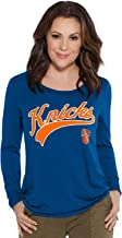 Touch by Alyssa Milano NBA New York Knicks Adult Women Redzone Top, Large, Royal