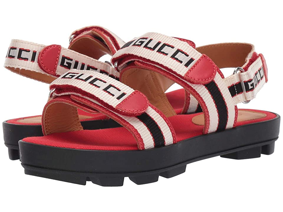 Gucci Kids GG Double Strap Sandal (Little Kid) (Red Multi) Kids Shoes