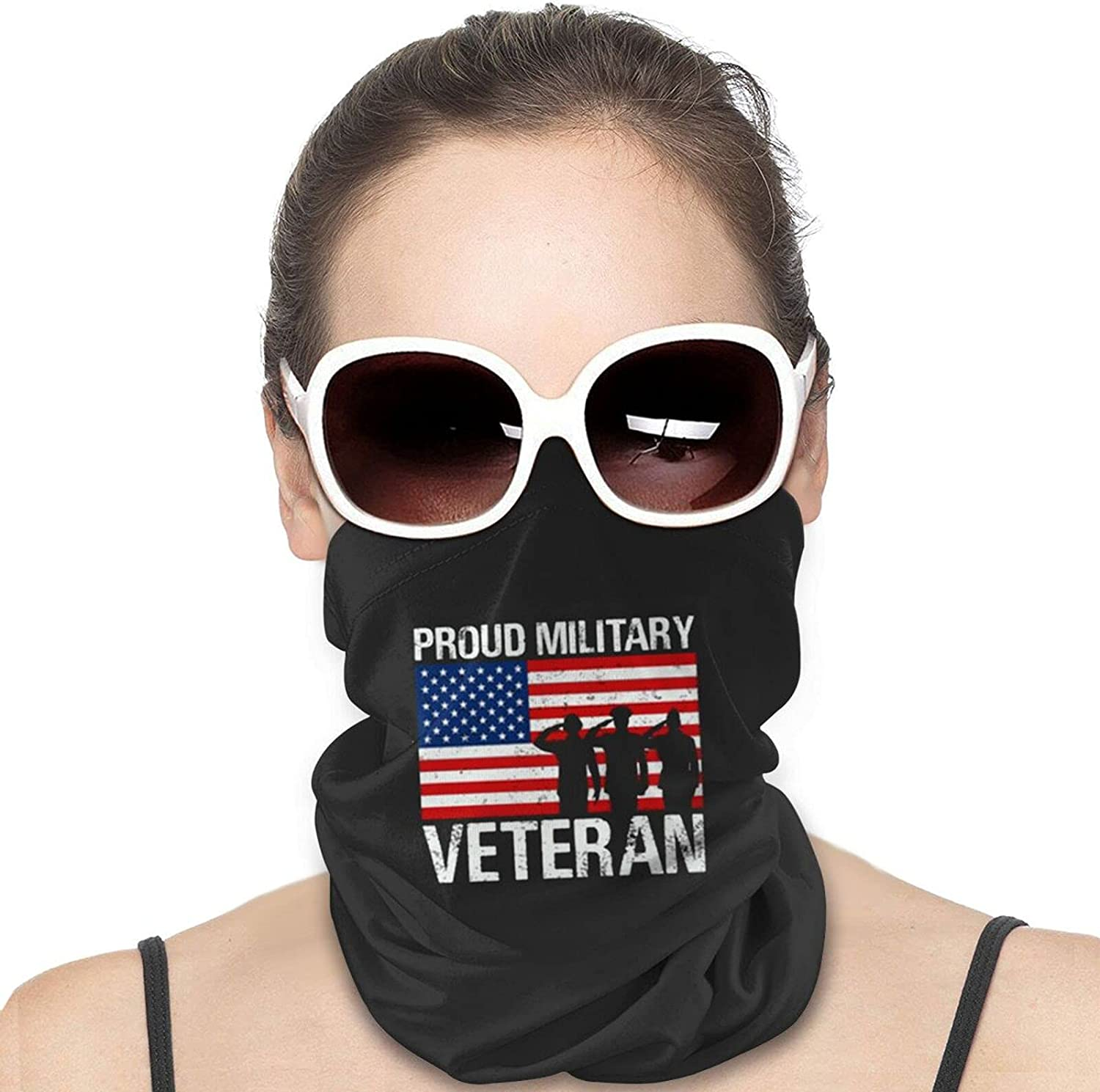 Proud Veteran Navy Corpsman US Round Neck Gaiter Bandnas Face Cover Uv Protection Prevent bask in Ice Scarf Headbands Perfect for Motorcycle Cycling Running Festival Raves Outdoors