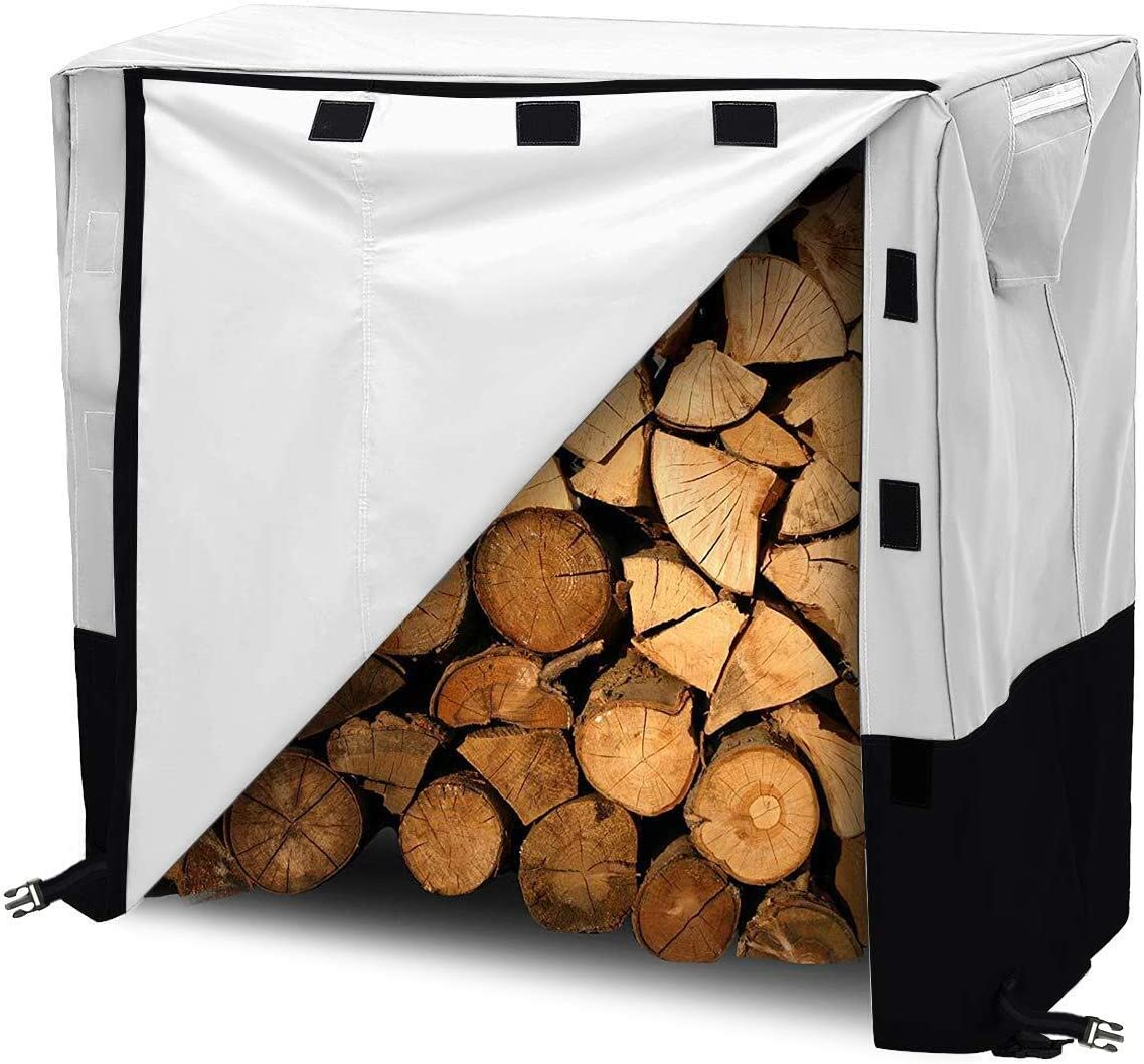 Department store Firewood Cover Log Rack Challenge the lowest price Heavy Fir 4 Duty Waterproof Feet