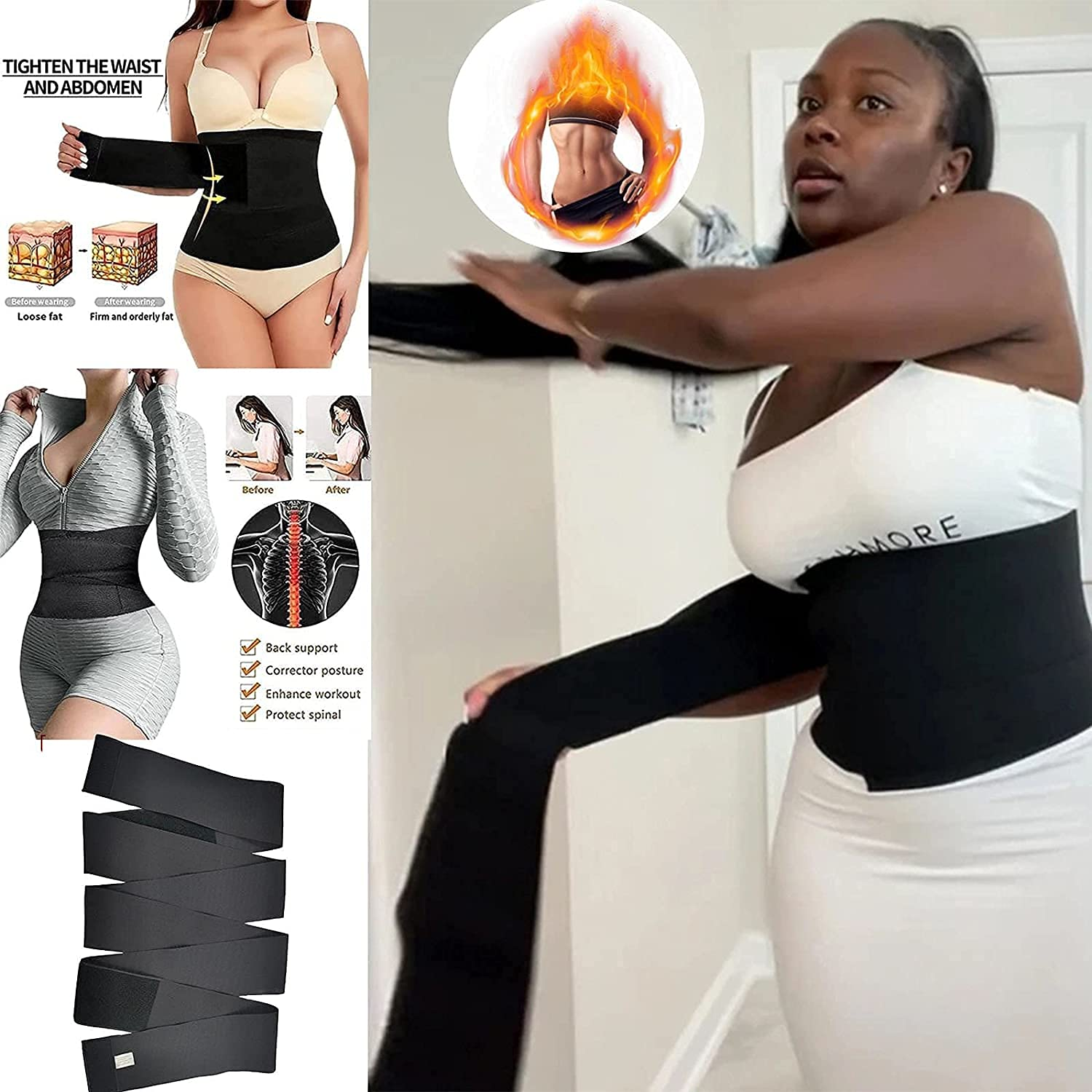 Invisible online shopping Wrap Waist Financial sales sale Trainer Tape Women Bel Slimming Tummy