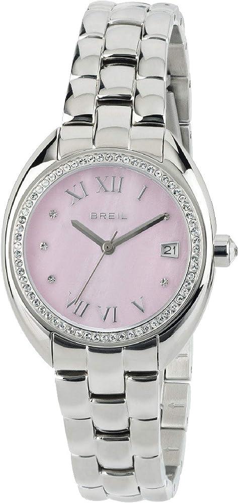 Breil orologio donna claridge con   quadrante in madreperla e i cristalli sulla lunetta TW1699