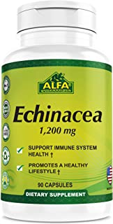 Echinacea 1200 Mg - Immune System Support, Natural laxative, Mental Health support, Anti-Inflammatory herbal Supplement - 90 Capsules