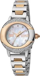 Just Cavalli Glam Stainless Steel Watch JC1L150M0095 - Quartz Analog for Women in Stainless Steel Strap