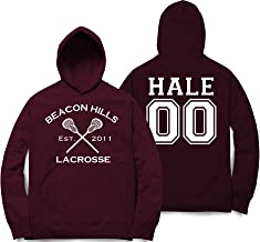 Hale 00 Teen Wolf Beacon Hills Inspired Lacrosse Hoodie Adult Fashion
