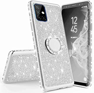 Mylne Bling Case for Samsung Galaxy S20 Plus,Shiny Sparkle Electroplated Diamond Frame Glitter Skin 360 Degree Ring Stand ...