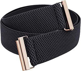 Samtree Stretch Elastic Belt for Women, Adjustable No Show Flat Buckle Lightweight Cinch Waistband for Dresses