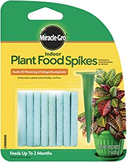 Miracle-Gro 1002522 Indoor Plant Food Spikes, 1.1-Ounce, 24 pk