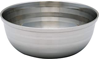 Pearl Stainless Steel Shaving Soap Bowl- Shaving Mug for Shave Cream & Soap- Unbreakable Shaving Cup for Wet Shave (SSB-02)