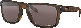 Oakley Holbrook XL Sunglasses Matte Brown Tortoise with Prizm Black Iridium Lens + Sticker