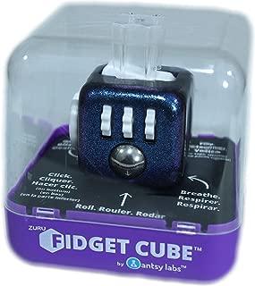 Zuru Fidget Cube by Antsy Labs - Custom Series (Chameleon Paint) Purple Glitter Fidget Cube with White Accents