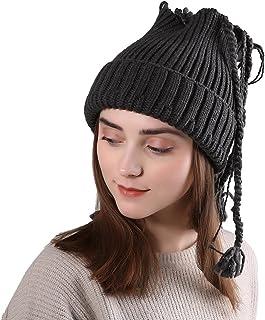 02317ebb4e84d TWGONE Womens Slouchy Beanie Winter Hat Knit Warm Snow Ski Skull Cap Wool  Solid Manual Braid