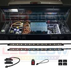 LEDGlow 2pc White Truck Tool Box LED Lighting Kit for Work & Utility Trucks - Universal - 12