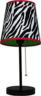 Limelights LT3000-ZBA Fun Prints Table Lamp, Black/Zebra