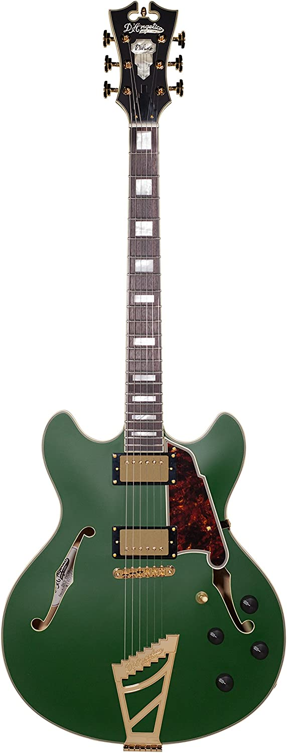 D'Angelico Deluxe Minneapolis Mall DC Very popular Semi-Hollow Electric Ta w Stairstep Guitar