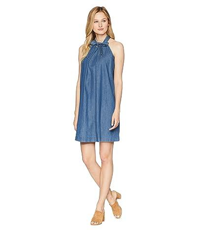 CeCe Sleeveless Halter Neck Dress w/ Neck Tie (Authentic) Women