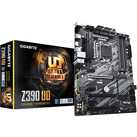 GIGABYTE Z390 UD (LGA 1151 (300 Series) Intel Z390 SATA 6Gb/s ATX Intel Motherboard for Cryptocurrency Mining with above 4G Decoding, 6 x PCIe Slots)