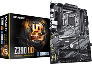 GIGABYTE Z390 UD (LGA 1151 (300 Series) Intel Z390 SATA 6Gb/s ATX Intel Motherboard for Cryptocurrency Mining with above 4...
