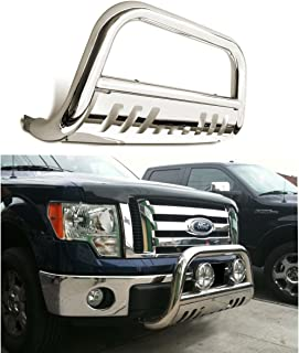 CAREPAIR Bull Bar Skid Plate Front Push Bumper Grille Guard Stainless Steel Chrome for 2008 2009 2010 Ford F250 / F350 / F450 / F550 Super Duty