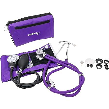 Lumiscope Professional Blood Pressure Kit - Stethoscope, Manual BP Cuff & Aneroid Sphygmomanometer - Grape, 100-040GRP