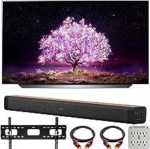 LG OLED55C1PUB 55 Inch 4K Smart OLED TV with AI ThinQ (2021 Model) Bundle with Deco Home 60W 2.0 Channel Soundbar, 37-70 i...