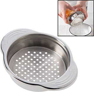 Stainless Steel Food Can Strainer Sieve Tuna Press Lid Oil Drainer Remover, Unique No-Mess Dishwasher Safe Design