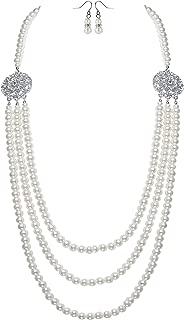 Naturale perle Collana Filo lungo madreperla,cristallo da donna,giallo