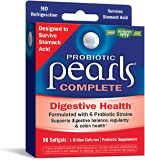 Sponsored Ad - Nature's Way Probiotic Pearls Complete, 1 Billion Live Cultures, 90 Softgels (Packaging May Vary)