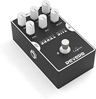 Caline Digital Reverb Pedal Guitar Effects Pedal with True Bypass Aluminum Alloy Housing Snake Bite CP-26 Hall Reverb