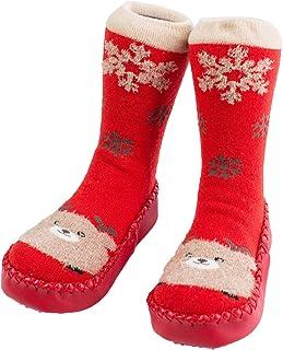 WUQIANG, WUQIANG Calcetines De Suelo Zapatillas de cálido de bebé Botas Calcetines, Dibujos Animados Lindo Dibujos Animados Zapatos y Calcetines Antideslizantes para Calcetines para niños pequeños