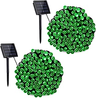 Toodour Outdoor Solar String Lights, Waterproof 200 LED Fairy Lights String for Christmas, Home, Garden, Yard, Porch, Tree, Party, Holiday Decoration(Green, 2 Pack)