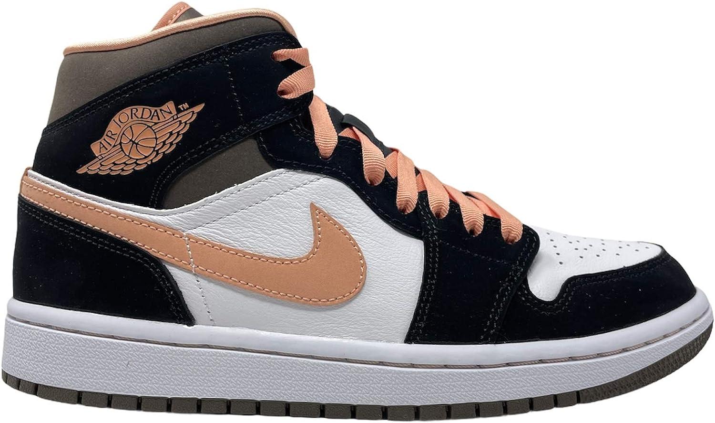 Nike Jordan 1 Mid Peach Mocha Women Black/Brown/Peach DH0210-100