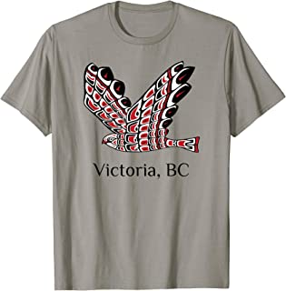 Victoria British Columbia Red Tail Hawk PNW Native Indian T-Shirt