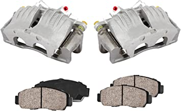 CCK11515 [2] FRONT Premium Loaded OE Caliper Assembly Set + Quiet Low Dust Ceramic Brake Pads