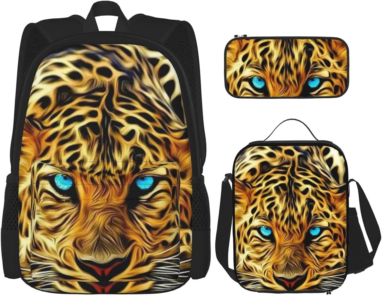 Leopard With Blue Eyes Wild Animal Teens Print For Backpack Boys Sales of Ranking TOP10 SALE items from new works