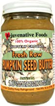 Fresh Raw Smooth Organic Pumpkin Seed Butter Pure Rejuvenative Foods Low-Temp-Ground Artisan-Ayurvedic-Vegan In-Glass Vitamin-Protein-Antioxidant-Mineral-Nutrition Certified Organic-16oz