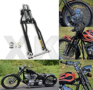 "XKH- Compatible with Stock Length 22"" Black Springer Front End Harley Sportster Chopper Softail Dyna [B07M92ZBM4]"