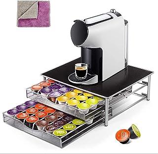 Support à 2 étages pour capsules de café et machine Dolce Gusto, tiroir à capsules et support pour 72 capsules de café, 1 ...