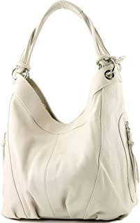 modamoda de - Z18 - ital Damenhandtasche aus Leder/Nappaleder