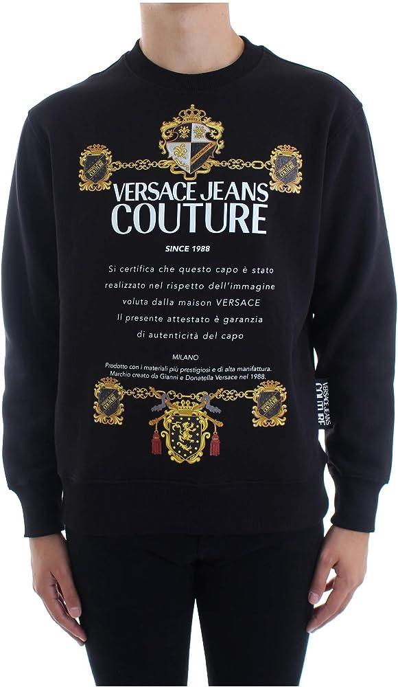 Versace jeans couture felpa girocollo uomo B7 GZB7TU 30216