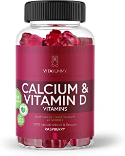 VITAYUMMY Gominolas masticables veganas con calcio y vitamina D sabor frambuesa | Mejoran el sistema inmune y la salud