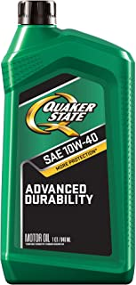 Quaker State Advanced Durability Conventional 10W-40 Motor Oil (1-Quart, Case of 6)